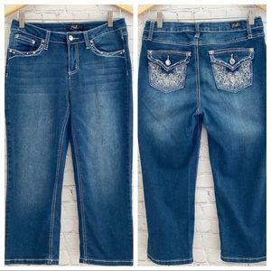 Earl Jeans Capri with Embellished Bling Pockets